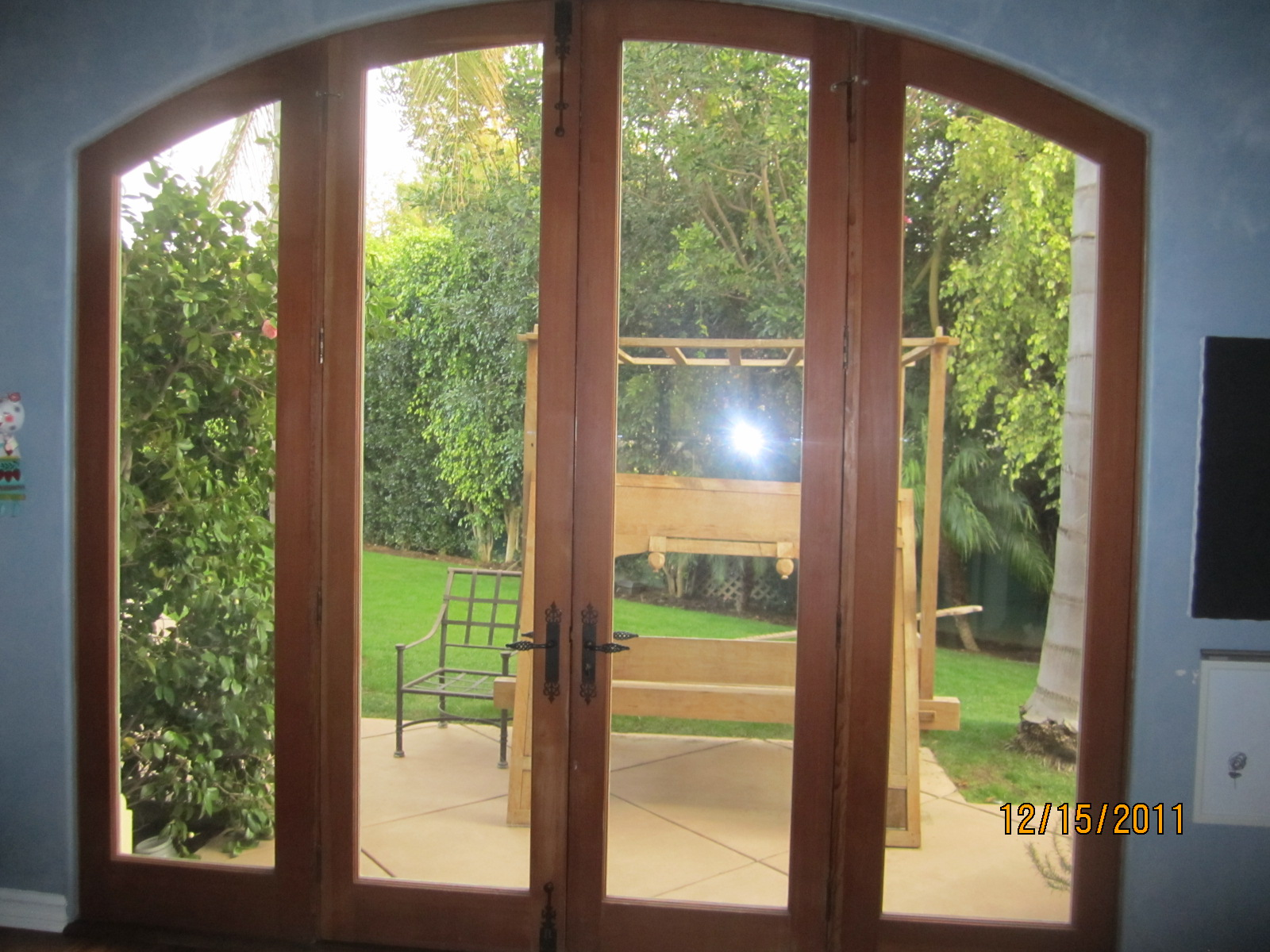 Arched Screens For Double Set French Doors in Brentwood