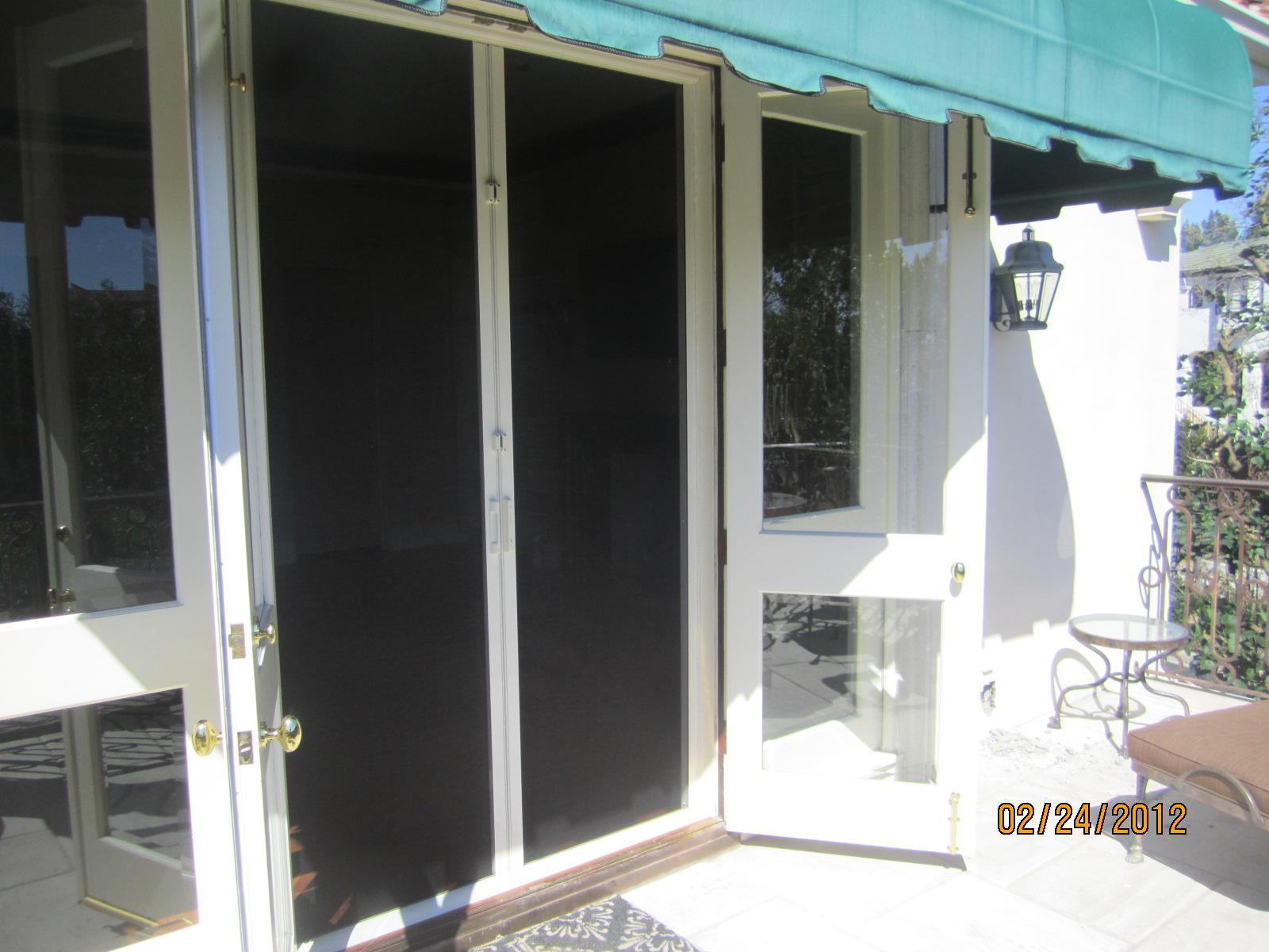 Hide Away Doors In Bell Air Retractable Screen Doors