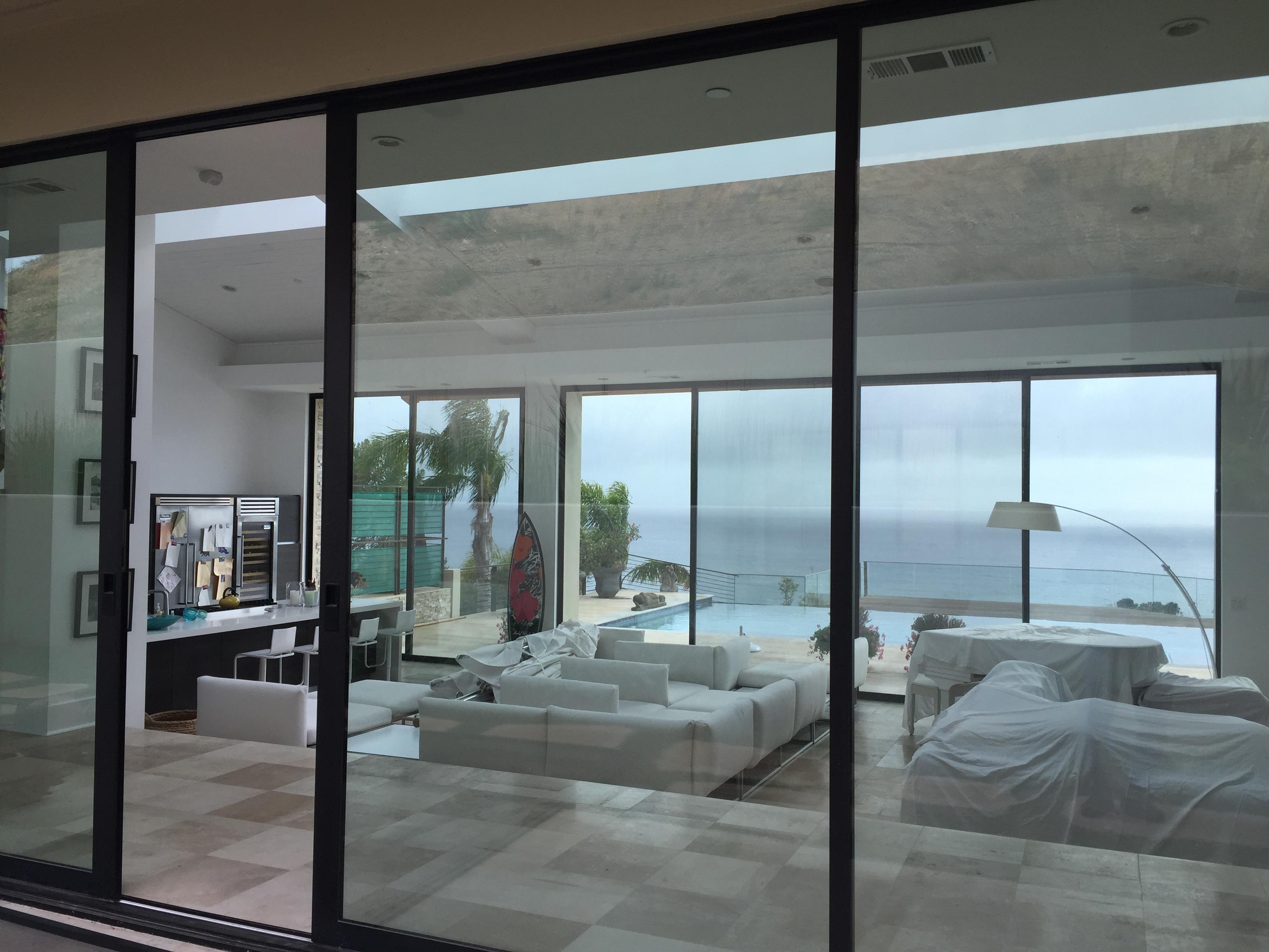 Patio Screen doors installed in Malibu home