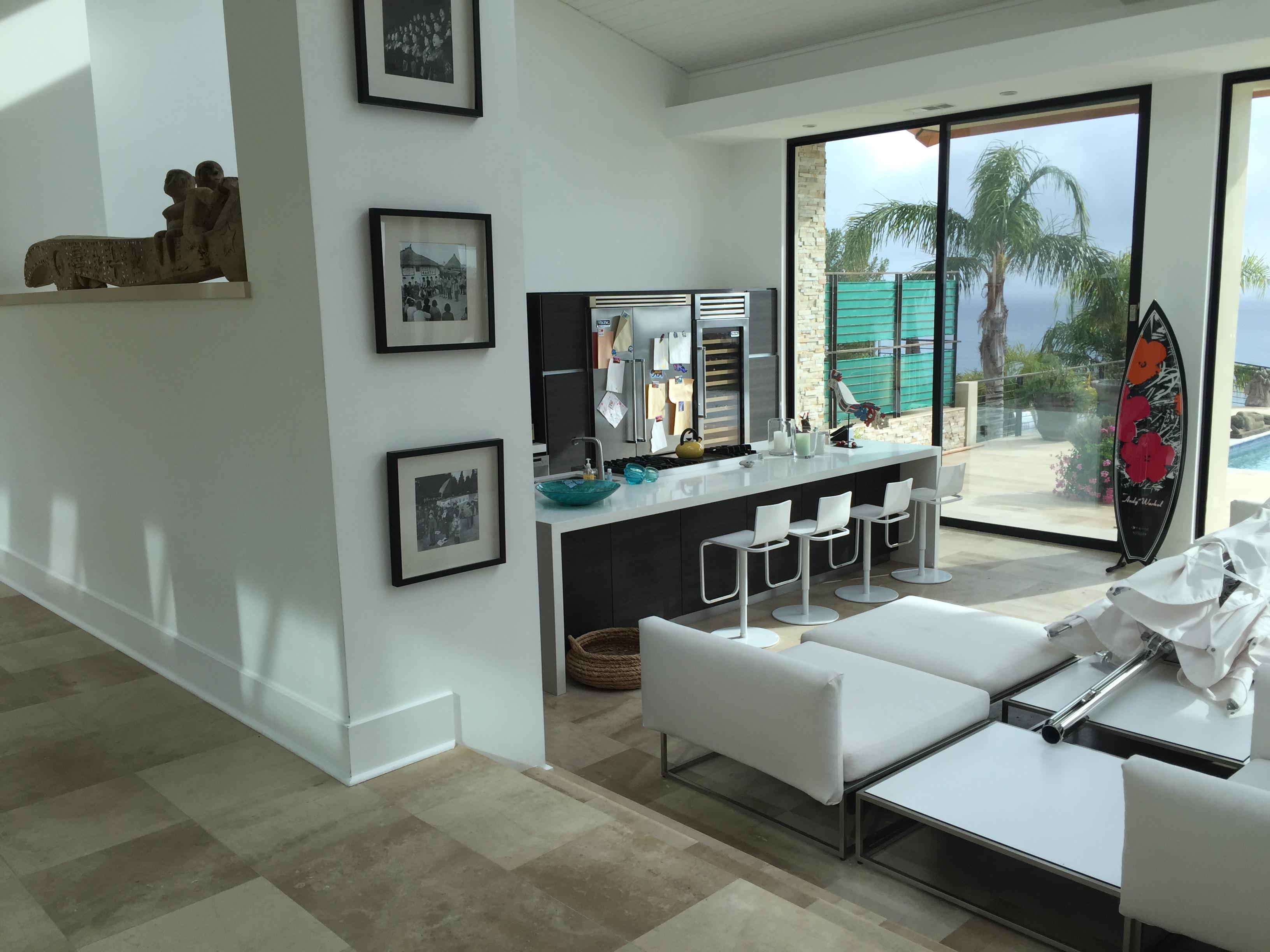 Retractable Screen doors installed in Malibu home
